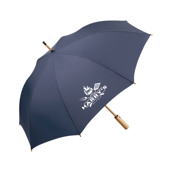 Convenient automatic function for quick opening, high-quality windproof system for maximum frame flexibility in stormy conditions, flexible fibreglass ribs, lightweight bamboo shaft, STANDARD 100 by