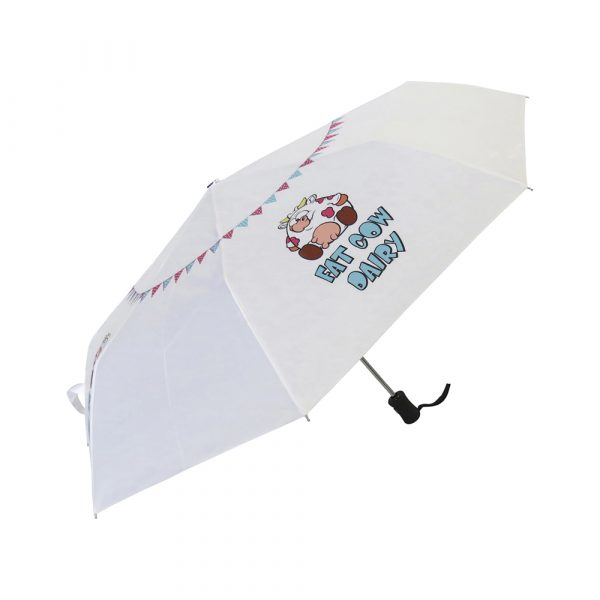 Fibreglass stem and ribs plus vented canopy for increased flexibility and stability in stormy conditions, rubber golf grip handle with decal option and a colour co-ordinated sleeve