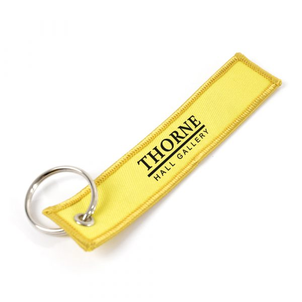 Large embroidered keyring complete with split ring attachment. Embroidery up to 5,000 stitches