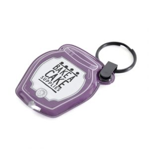 Go bespoke with the 1 LED light up PVC keyring, available in a variety of colours, shapes and sizes up to 70 x 70mm