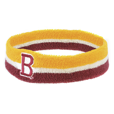 Elasticated head sweatbands made from single layer towelling material. One size fits all. Pricing includes a 5000 stitch embroidery.