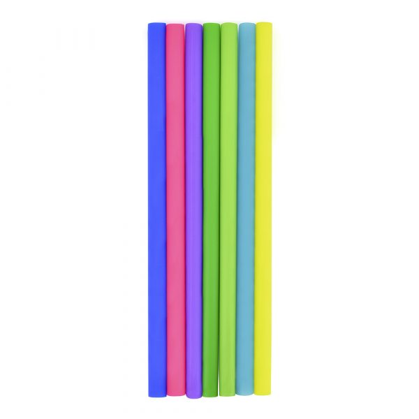 Straight soft silicone plastic straw to replace single use plastic alternatives. Available in 6 colours or Pantone matched from 5000 pieces. Curve straw also available at an additional cost.