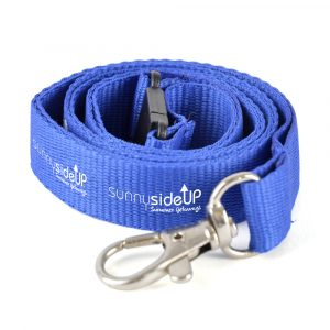 Polyester lanyard with metal hook and safety break. Size: 900 x choice of 10, 15, 20 or 25 mm width. Price shown is for 20 mm width