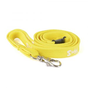 Tubular lanyard with metal hook and safety break. Size: 10, 12, or 15 mm. Price shown is for 15 mm width.