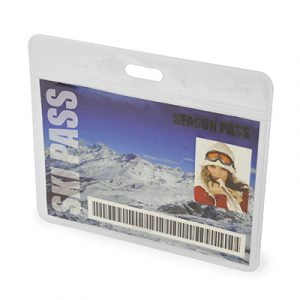Clear PVC pass holder ideal for travel companies. Lanyard not included - plain stock only.