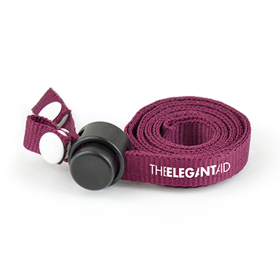 Eliminate the worry of misplacing your mask or the risk of contamination by putting it in your handbag or pocket with this polyester lanyard mask holder.