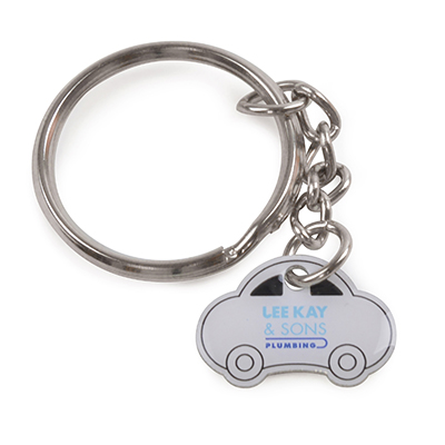 Fully bespoke metal keyrings. Up to size 20 x 20 mm
