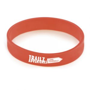 2 silicone wristbands with a citrus scent to repel mosquitos. Can be pantone matched.