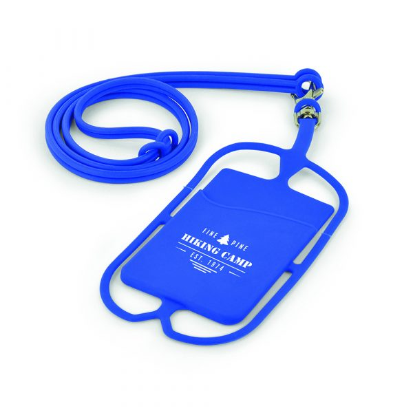 Keep all your important possessions in one place with this Silicone lanyard phone and card holder. Perfect for those on the go.