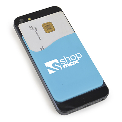 Silicone phone pocket sticks to your phone then pop your bank card in the phone pocket and you're off!
