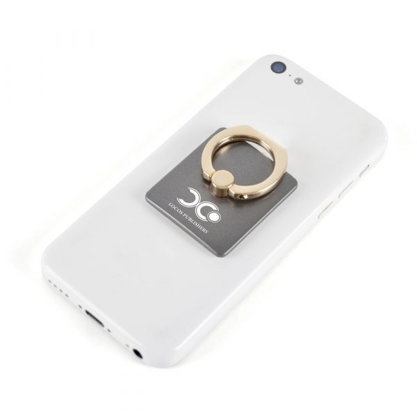 Plastic & Metal phone stand - Attach the plastic stand to the back of your phone and extend the metal ring. Also acts as an additional security feature by slotting your finger through the metal ring.