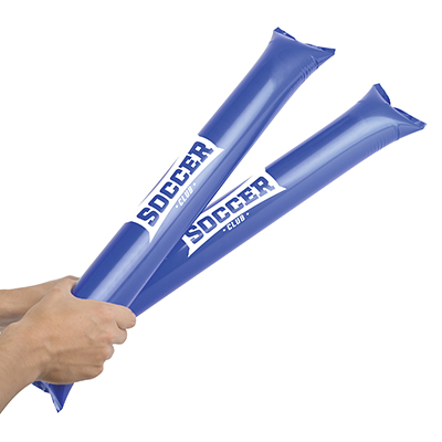 inflate the 2 sticks and bang them together to create a noise. 2 bang bang sticks in a pack and a straw to inflate included.