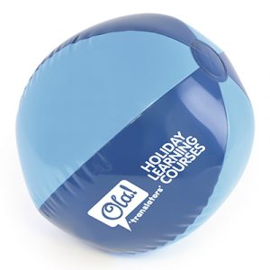 Inflatable beach ball price includes a one colour print on three panels