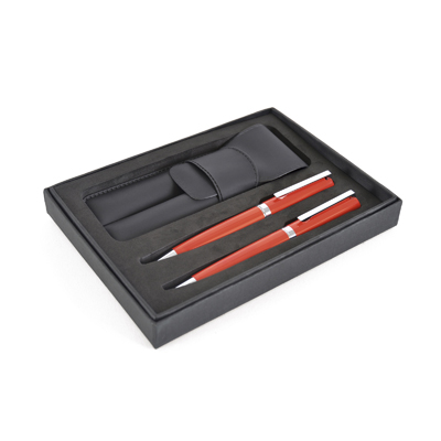Consort box with pouch containing the Ambassador Ball Pen and Roller Ball